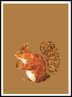 Poster: Squirrel, by Plurr - from skärgården with love