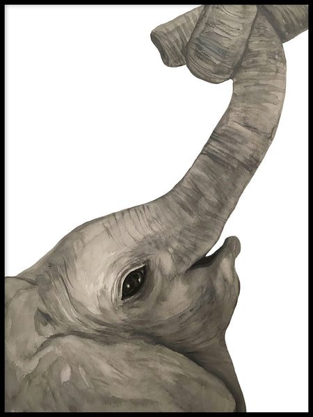 Poster: Elephant, by Lindblom of Sweden