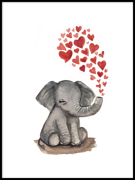 Poster: elephantlove, by Lindblom of Sweden