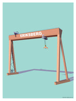Poster: Eriksberg, by Pop-in Local graphics