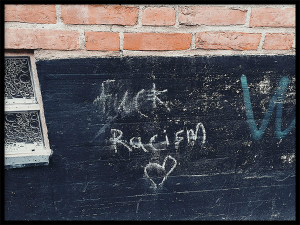 Poster: F-ck racism, by MalinAlexandra