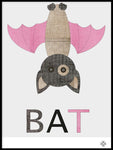 Poster: Fabric Bat, by Paperago