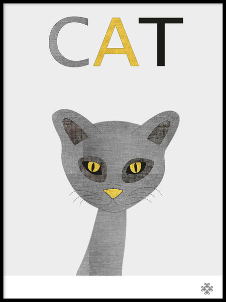 Poster: Fabric Cat, by Paperago