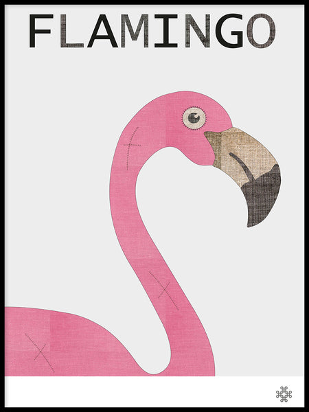 Poster: Fabric Flamingo, by Paperago