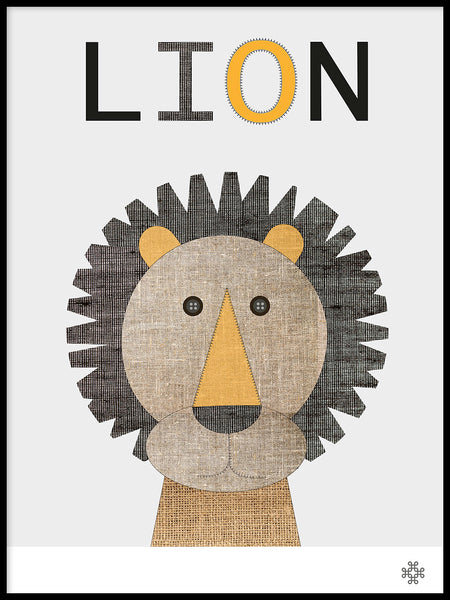 Poster: Fabric Lion, by Paperago