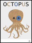 Poster: Fabric Octopus, by Paperago