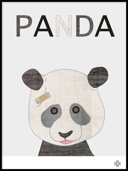 Poster: Fabric Panda, by Paperago