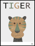 Poster: Fabric Tiger, by Paperago