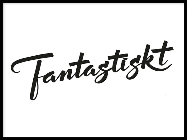 Poster: Fantastiskt, by Fia Lotta Jansson Design