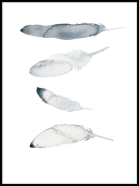 Poster: Feathers, by Toril Bækmark