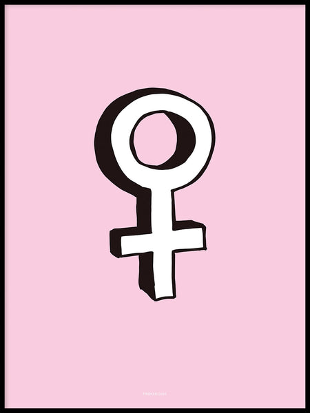 Poster: Female, pink, by Fröken Disa