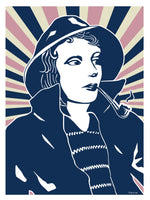 Poster: Fisherwoman, by Pop-in Local graphics