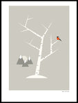 Poster: Mountain birch, by Fröken Fräken Form
