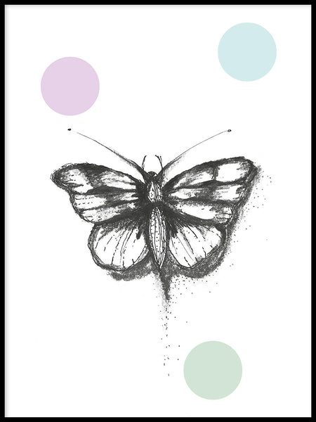 Poster: Butterfly, by Jessica Ahrling