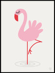 Poster: Flamingo, by KAI Copenhagen