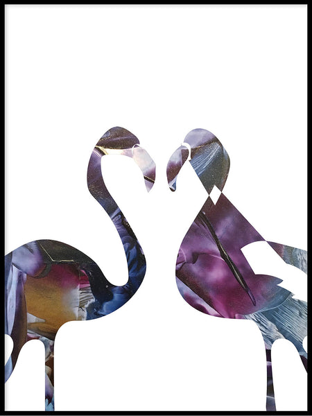 Poster: Flamingo, night, by LIWE