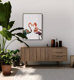 Poster: Flamingo, sunset, by LIWE