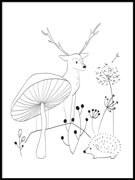 Poster: Forest Animal 1, by Katri Hansson