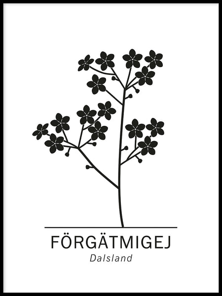 Poster: Forget-me-not, by Paperago