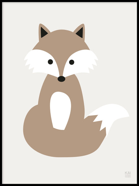 Poster: Fox, by KAI Copenhagen