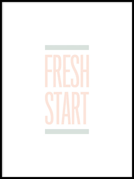 Poster: Fresh Start, pastel, by Esteban Donoso