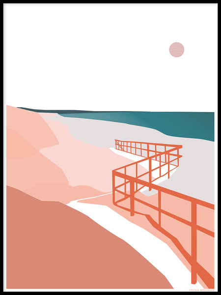 Poster: Frösakull Strand, by Cecilia Bernmark