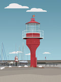 Poster: The lighthouse, Skanör, by Caro-lines