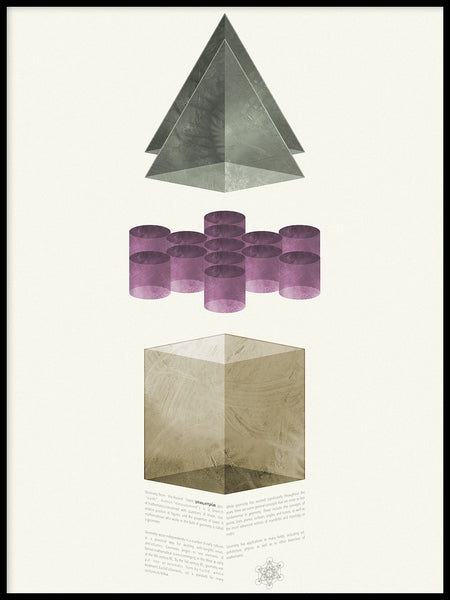 Poster: Geometry 1, by Sebastian Matar