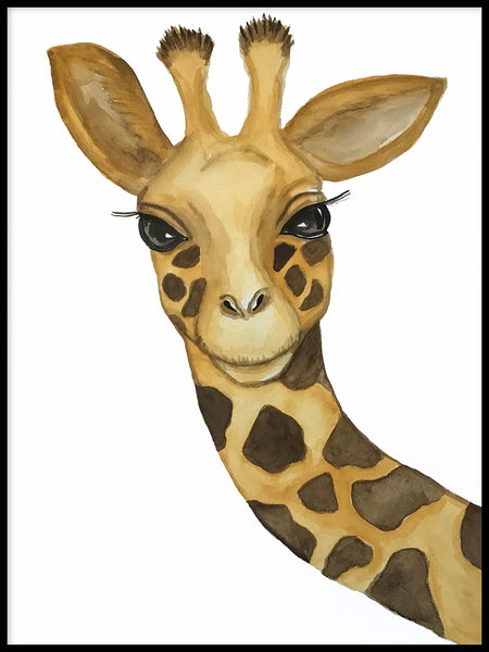 Poster: Giraffe, by Lindblom of Sweden
