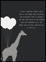 Poster: Giraffe neck, by Anna Mendivil / Gypsysoul