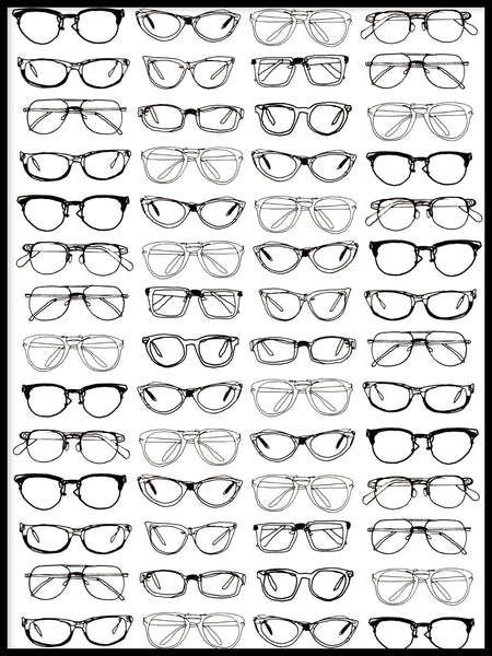 Poster: Glasses, by Matilda Petersson