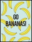 Poster: Go Bananas!, by Fröken Form