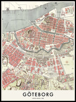 Poster: Gothenburg 1888, by Owl Streets