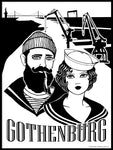 Poster: Gothenburg Sailors, by Pop-in Local graphics