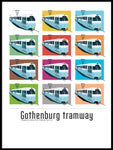 Poster: Gothenburg Tramway, by Pop-in Local graphics
