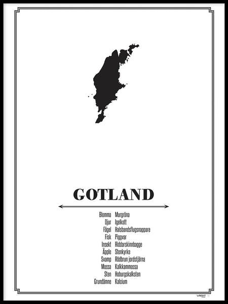 Poster: Gotland, by Caro-lines
