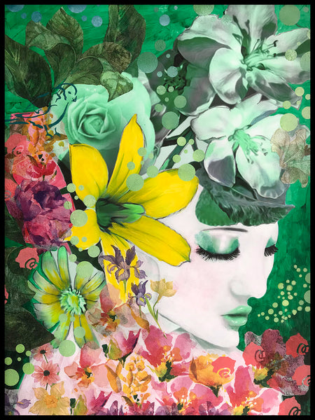 Poster: Green flowers, by Nancy Helena Berggren