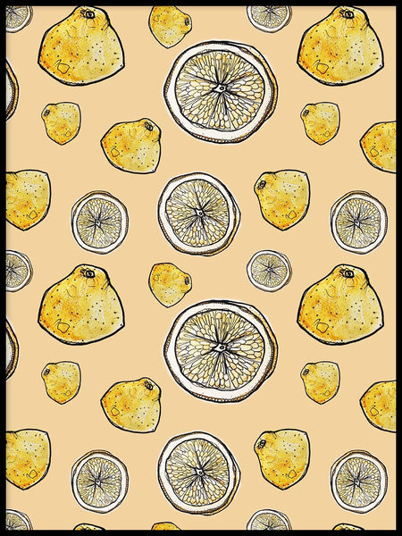 Poster: Yellow lemon, by Fia-Maria