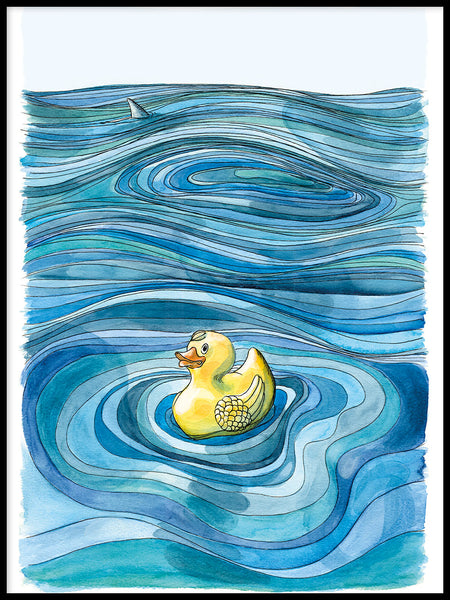 Poster: Yellow plastic duck, by Ingrid Fröhlich