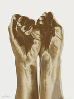 Poster: Golden hands, by Ingrid Kraiser - ingrid art design