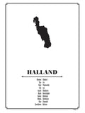 Poster: Halland, by Caro-lines