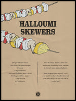 Poster: Halloumi Skewers, by Discontinued products