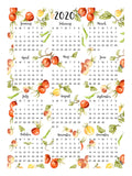 Poster: Harvey English Calendar, by Annas Design & Illustration