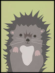 Poster: Hedgehog, by Kort & Gott