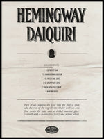 Poster: Hemingway Daiquiri, by Discontinued products