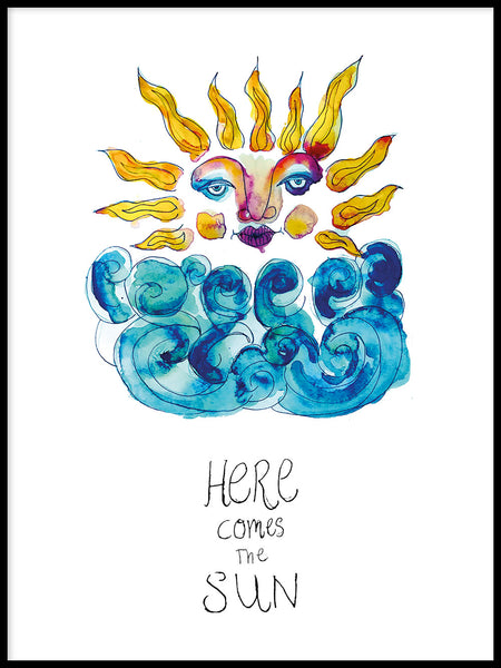 Poster: Here comes the sun, by Jessica Ahrling