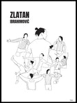 Poster: History of Zlatan, with name, by Tim Hansson