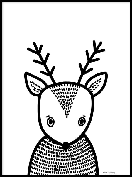 Poster: Deer Buddy, by Anna Grundberg