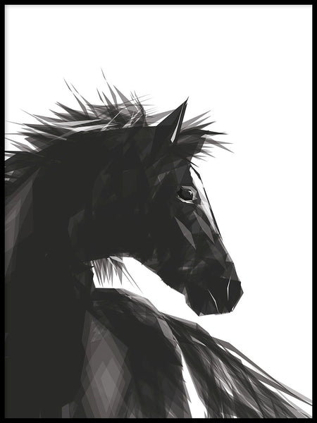 Poster: Horse, by ANNABOYE