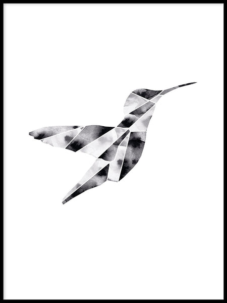 Poster: Hummingbird, by Lotta Larsdotter